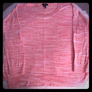 Gap pink and white light weight sweater.